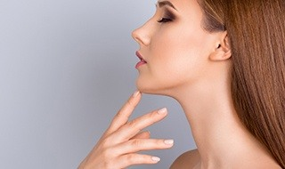 Woman's chin after Kybella treatment