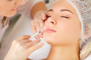a woman receiving Botox