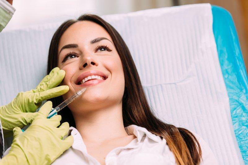 woman receiving dermal fillers in Ocala